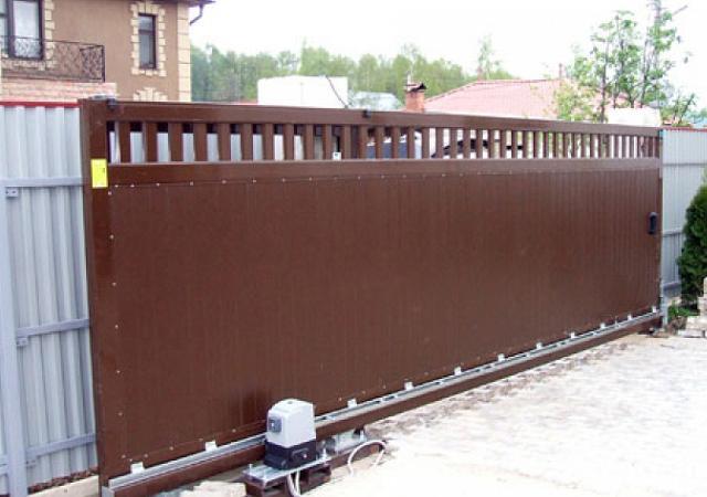 фото откатных ворот 8