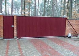 фото откатных ворот 9